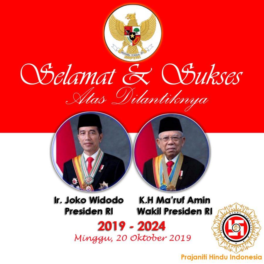 Selamat atas Pelantikan Presiden dan Wakil Presiden RI 2019-2024