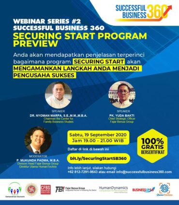 Webinar Kedua Successful Business 360