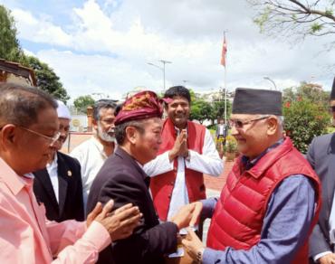 Keakraban Ketua Umum Prajaniti dan Perdana Menteri Nepal