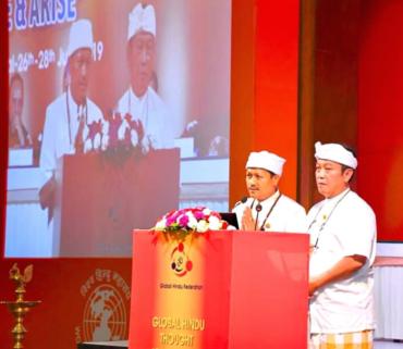 Ketua Hubungan Luar Negeri Memimpin Doa Pertemuan Hindu Dunia