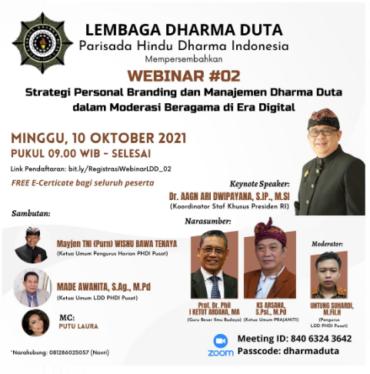 Ketua Umum Prajaniti Berbagi Tips Personal Branding di Webinar LDD PHDI